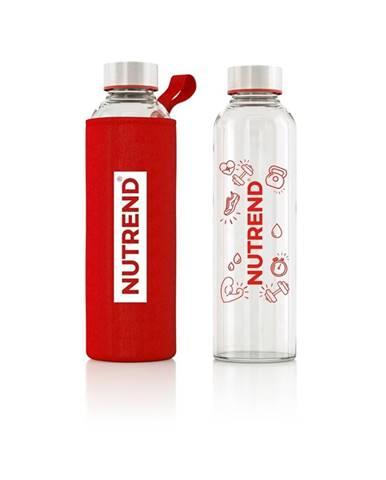 Sklenená fľaša Nutrend s termoobalom 800 ml červená
