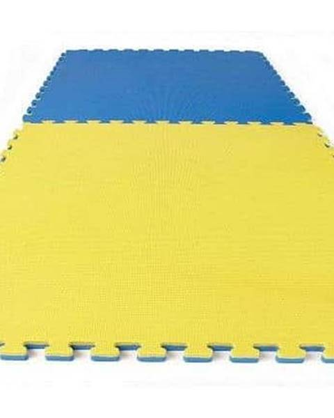 Sedco TATAMI PUZZLE podložka oboustranná 100x100x3 cm - Žlutá/Modrá