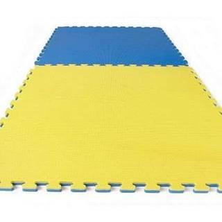 TATAMI PUZZLE podložka oboustranná 100x100x3 cm - Žlutá/Modrá