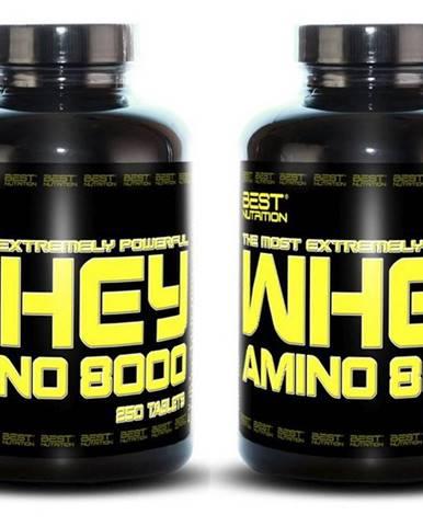 1+1 Zadarmo: Amino Whey 8000 od Best Nutrition 250 tbl. + 250 tbl.