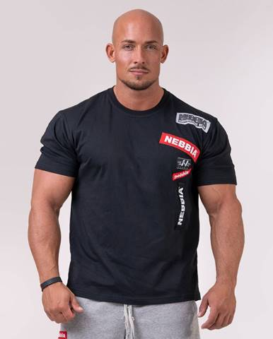 NEBBIA Tričko Logo Tapping Black  M