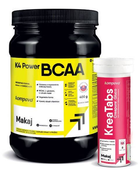 Kompava K4 Power BCAA 4:1:1 - Kompava 400 g Grep+Limetka