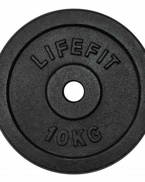 Lifefit Kotúč LIFEFIT 10kg, kovový, pre 30mm tyč