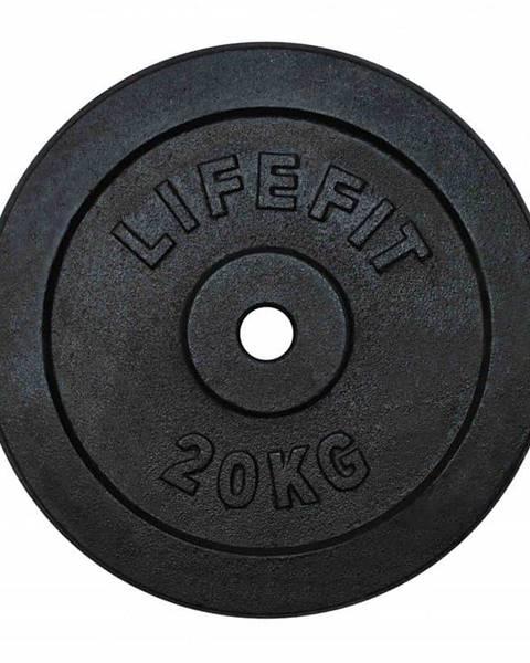 Lifefit Kotúč LIFEFIT 20kg, kovový, pre 30mm tyč