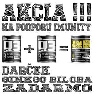 2+1 Zadarmo: Vitamín D3 + Ginkgo Biloba Zadarmo - FitBoom 60 kaps. + 60 kaps. + 100 tbl.