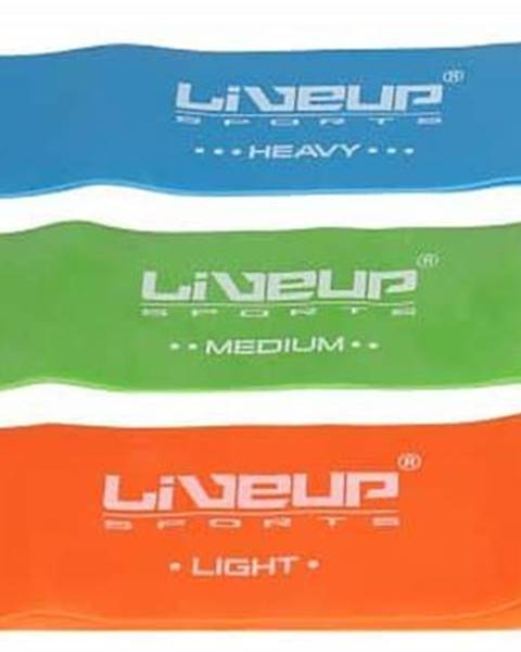 LiveUp aerobic guma posilovací guma 50x5 cm barva: oranžová;rozměr: L
