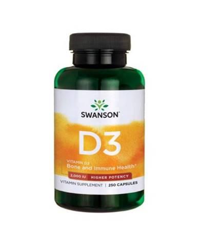 Swanson Vitamín D3 2000 IU 250 kaps.