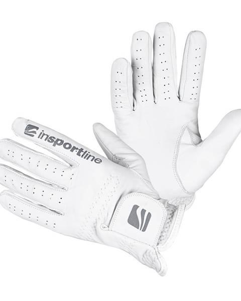 Insportline Dámske kožené rukavice inSPORTline Elmgreen Lady krémovo biela - S