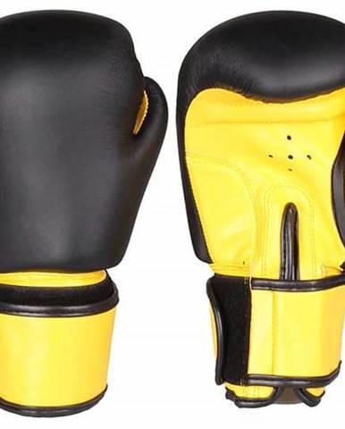 Fighter zápasové boxovací rukavice černá-žlutá Hmotnost: 6 oz
