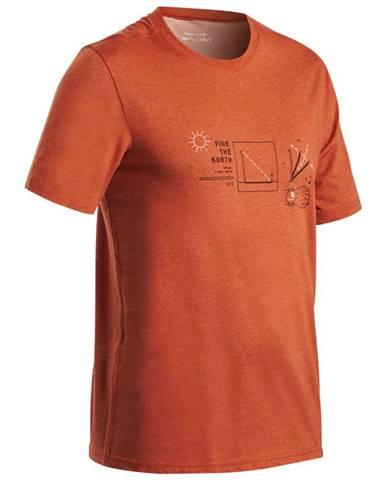 QUECHUA Tričko Nh500 Tehlové