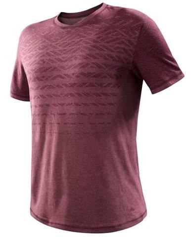 QUECHUA Tričko Nh500 Fresh Bordové