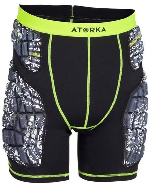 ATORKA ATORKA šortky H500 čierno-žlté