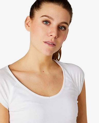 NYAMBA Dámske Tričko 500 Slim Biele