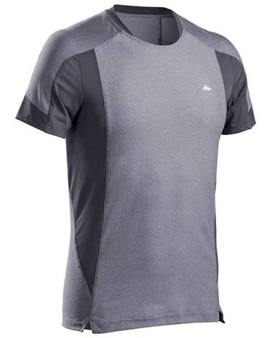 QUECHUA Pánske Tričko Mh500 Sivé