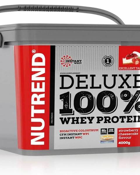 Nutrend Nutrend Deluxe 100 % Whey 4000 g Jahodový cheescake