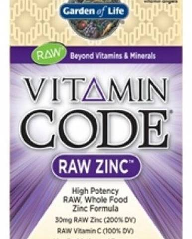 Garden Of Life Vitamín Code Raw Zinok 60 kapsúl