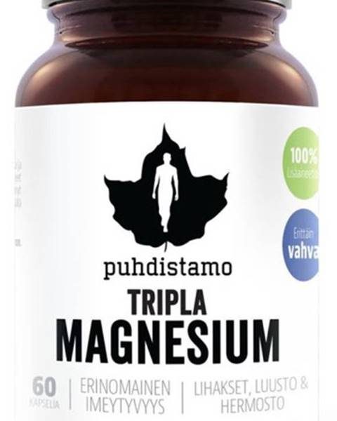 Puhdistamo Puhdistamo Triple Magnesium (Horčík) 60 kapsúl