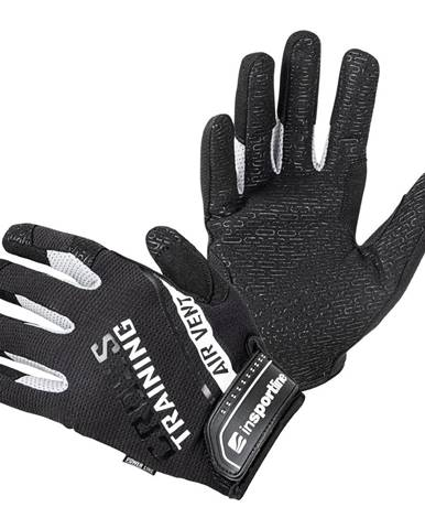 Fitness rukavice inSPORTline Taladaro čierno-biela - S