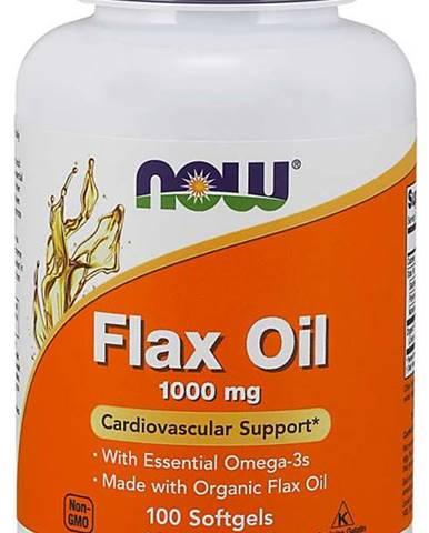 NOW Foods Ľanový olej 1000 mg 100 kaps.