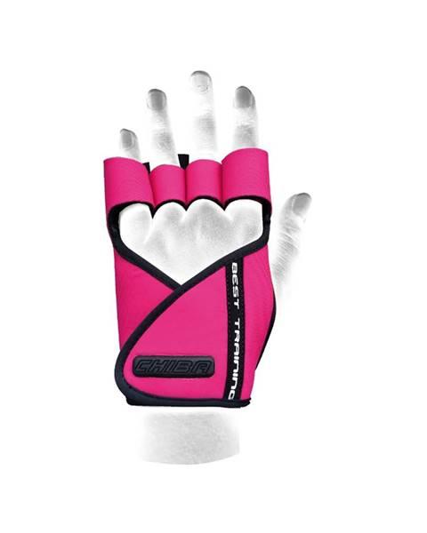 CHIBA Chiba Dámske fitness rukavice Lady Motivation Pink  L