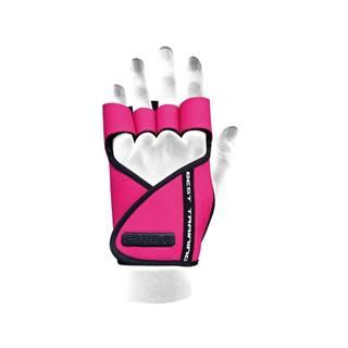 Chiba Dámske fitness rukavice Lady Motivation Pink  L