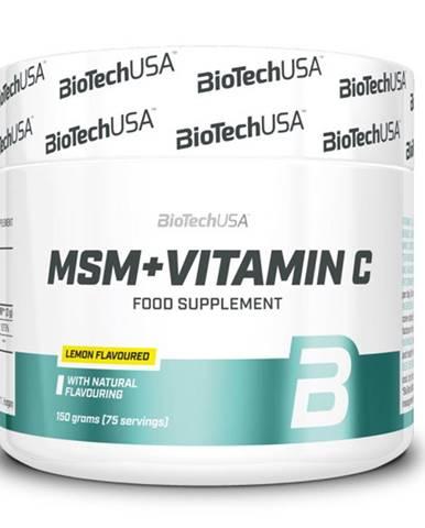 BioTech USA BioTech MSM + Vitamin C 150 g variant: citrón