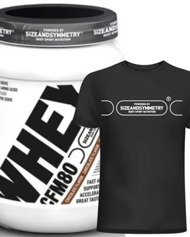 Sizeandsymmetry Whey Protein 80 CFM 2000 g variant: čokoláda