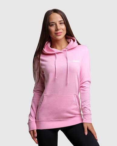 GymBeam Dámska mikina PRO Hoodie Baby pink  XS
