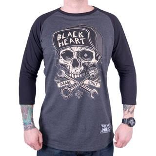 Tričko s dlhým rukávom BLACK HEART Garage Built šedá - M