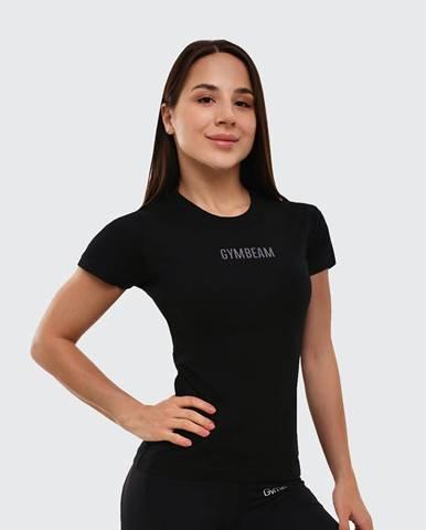GymBeam Dámske tričko FIT Black  XS