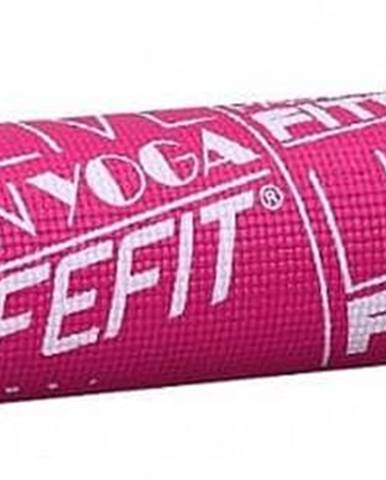 Gymnastická podložka LIFEFIT SLIMFIT PLUS, 173x58x0,6cm, světle růžová