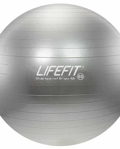 Gymnastický míč LIFEFIT ANTI-BURST 65 cm, stříbrný