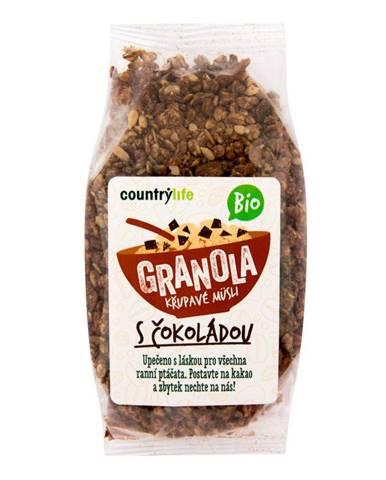 BIO COUNTRY LIFE Granola Chrumkavé ovsené müsli 350 g čokoláda