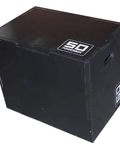 Plyometrická bedna dřevěná Sedco DARKWOOD 40/50/60 cm - Černá