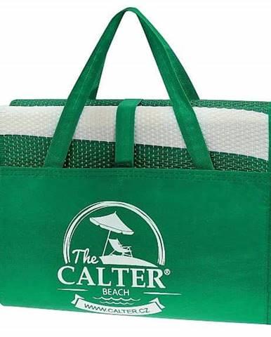 Plážová podložka CALTER - taška, plastová, zelená