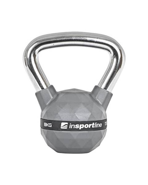 Insportline Pogumovaná činka inSPORTline Ketlebel PU 8kg