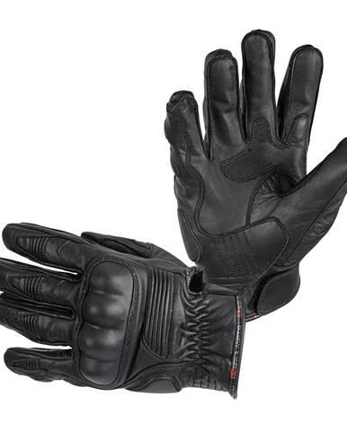 Kožené moto rukavice B-STAR McLeather čierna - XXL