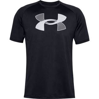 Pánske tričko Under Armour Big Logo Tech SS Black - M