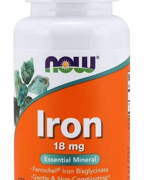 NOW Foods NOW Iron Bisglycinate železo chelát Ferrochel 18 mg 120 kapsúl