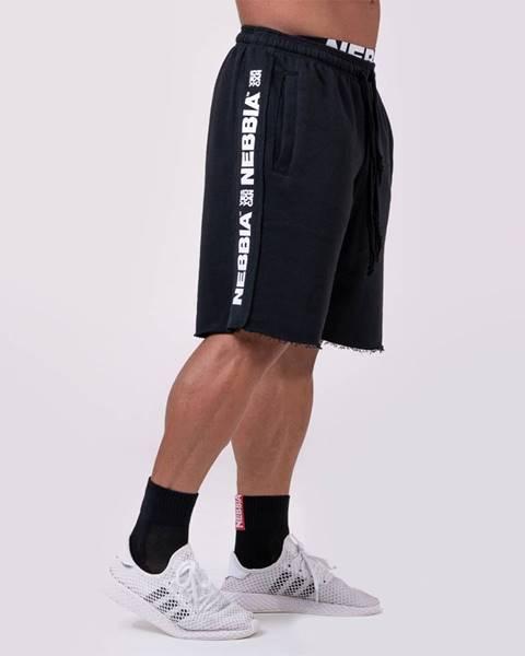 Nebbia NEBBIA Pánske šortky Lampas Black  L