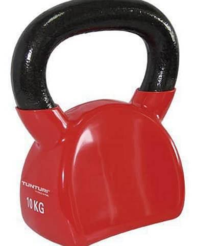 Kettlebell litinový ve vinylu TUNTURI 10 kg červený