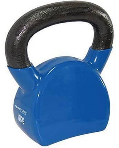Kettlebell litinový ve vinylu TUNTURI 12 kg modrý