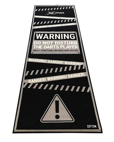 Podložka/koberec na šipky XQ MAX DARTMAT Warning - Černá