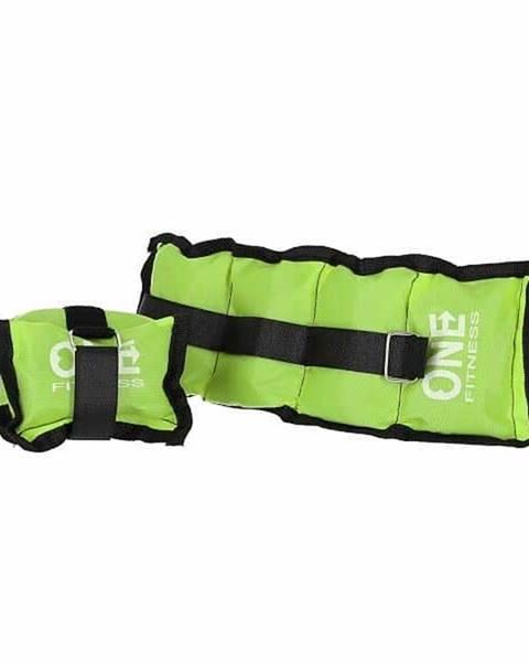 ONE FITNESS Zátěže na zápěstí a kotníky ONE FITNESS WW02 2 x 1,5 kg zelené