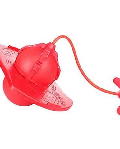Handle Jump Ball skákací míč s rukojetí červená