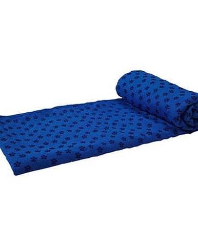 Ručník na JOGU TUNTURI 180 x 63cm modrý s taškou