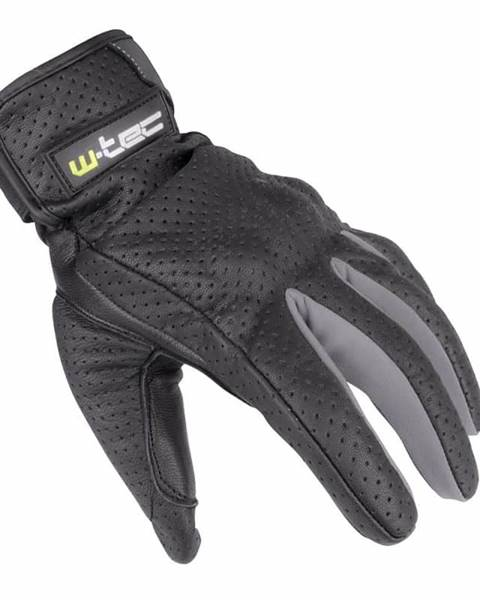W-Tec Letné kožené moto rukavice W-TEC Nyarra NF-4150 Farba šedá, Veľkosť XXL