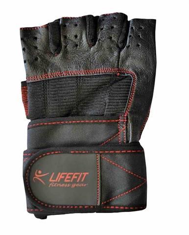Fitnes rukavice LIFEFIT TOP, vel. XL, černé Oblečení velikost: L