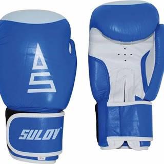 Box rukavice SULOV kožené, modro-bílé Box velikost: 14oz