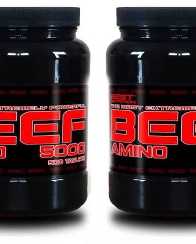 1+1 Zadarmo: Amino BEEF 5000 od Best Nutrition 250 tbl + 250 tbl